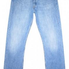 Blugi LEVI'S 501 - (MARIME: W 32 / L 34) - Talie = 85 CM / Lungime = 115 CM - Blugi barbati Levi's, Culoare: Albastru, Prespalat, Drepti, Normal