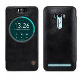 Husa piele Asus Zenfone Selfie ZD551KL Nillkin Qin View Blister Originala