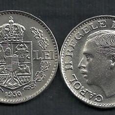 ROMANIA CAROL II 100 LEI 1936 a UNC [0] Livrare in cartonas, SUPERBA ! - Moneda Romania, Nichel