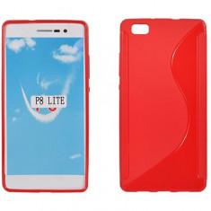 Husa HUAWEI Ascend P8 Lite TPU S-LINE Red - Husa Telefon Huawei, Huawei P8, Rosu, Gel TPU, Fara snur, Carcasa