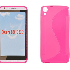 Husa HTC Desire 820 TPU S-LINE Pink - Husa Telefon HTC, Roz, Gel TPU, Fara snur, Carcasa