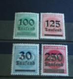 Germania 1923 - UZUALE INFLATIE, TIMBRE NESTAMPILATE cu SUPRATIPAR, R29, Nestampilat