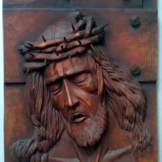 Icoanå sculptatå in lemn de tei,, isus,, - Icoana pe lemn