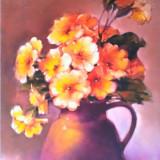 Tablou picturå,, flori,, - Pictor roman, Ulei, Miniatural