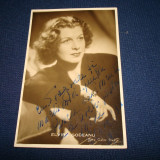 Fotografie tip CP  Elvira Godeanu cu dedicatie si autograf original 1966