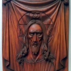Icoanå sculptatå in lemn de tei,, isus - - Icoana pe lemn