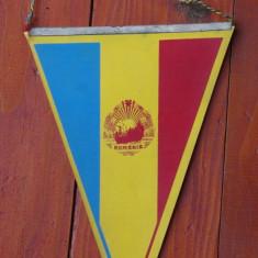 Fanion sport fotbal - Romania / Finlanda - Timisoara 28 august 1985 -de colectie