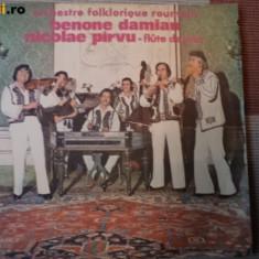 Orchestra folclorica benone damian vioara nai parvu disc vinyl Muzica Populara electrecord, VINIL