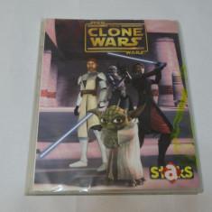 Album colectie Star Wars The Clone Wars - 84 cartonase magnetice - Cartonas de colectie