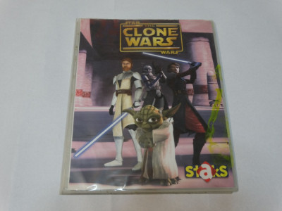 Album colectie Star Wars The Clone Wars - 84 cartonase magnetice foto