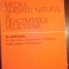 Mediul ambiant si reactivitatea vegetariana (Hipertermia exogena...)-P.Groza