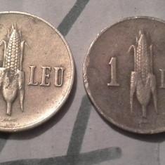 1 LEU 1940 FRUMOS/4 +CADOU 1 LEU 1941 - Moneda Romania