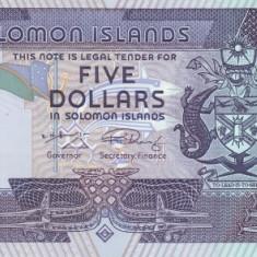 Insulele Solomon 5 Dolari ( nedatata~2004-2009) P-26 UNC !!!