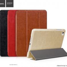 Husa / toc LUX piele fina HOCO Crystal, iPad MINI 4, smart cover, MARO CONIAC - Husa Tableta