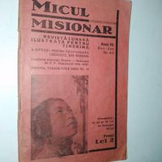 Micul misionar - Revista interbelica - Oradea - timbrata 25 bani 1939