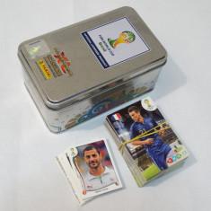 Colectie cartonase Fifa World Cup Brasil - 121 cartonase + cutie metalica