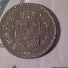 50 LEI 1937/1 FRUMOASA - Moneda Romania