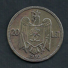 ROMANIA CAROL II 20 LEI 1930, HEATON [26] Livrare in cartonas - Moneda Romania, Cupru-Nichel
