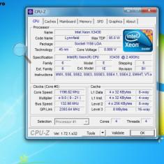Intel Xeon Quad Core X3430 2, 4Ghz 8MB L3 cache soket LGA1156 - Procesor PC Intel, Numar nuclee: 4, 2.0GHz - 2.4GHz