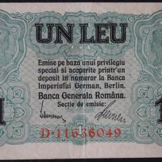 Romania 1 leu 1917 BGR - Bancnota romaneasca