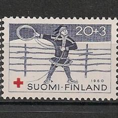 Finlanda.1960 Crucea Rosie CF.380 - Timbre straine, Nestampilat
