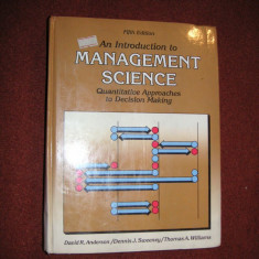 An introduction to management science - David R. Anderson - Carte Management