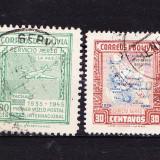 Timbre BOLIVIA 1945 = POSTA AERIANA, Stampilat