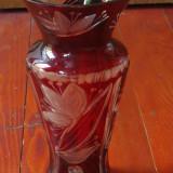 Vaza rubin model deosebit  - lucrata manual cu modele gravate !!!
