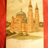 Ilustrata Catedrala Ortodoxa Romana Sibiu cca.1914, color - Carte Postala Transilvania 1904-1918, Necirculata, Printata