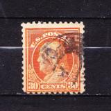Timbre AMERICA 1914 = BENJAMIN FRANKLIN, Stampilat