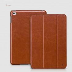 Husa/toc LUX piele fina HOCO Crystal, iPad MINI 4, smart cover, MARO CONIAC - Husa Tableta