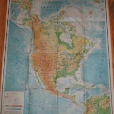 HARTA DIDACTICA : AMERICA DE NORD 1986 ( 2 )
