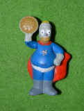 Figurina jucarie desene animate Hommer Simpson, plastic, Burger King, 8cm