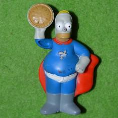 Figurina jucarie desene animate Hommer Simpson, plastic, Burger King, 8cm - Figurina Desene animate
