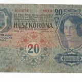 LL bancnota AustroUngaria 20 koroane 1913 VF+ - bancnota europa