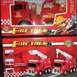 Masinute de pompieri cu functii,noi, 2-4 ani, Electrice, Plastic