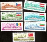 1967 Ungaria Comisia Europeana a Dunarii  serie 7v. Michel 2323-2329  ** NOI MNH