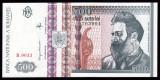 ROMANIA, 500 LEI 1992, UNC_filigran profil Brancusi