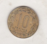 Bnk mnd Africa Centrala 10 franci 1998