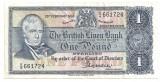 SCOTIA The British Linen Bank 1 Pound LIRA 1968 VF