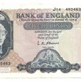 ANGLIA 5 POUNDS LIRE ND (1957-67) XF - bancnota europa