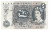 ANGLIA 5 POUNDS LIRE ND (1966-70) VF