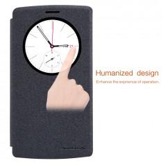 Husa LG G4 Beat / G4S S-VIEW Sparkle Leather Case Black by Nillkin - Husa Telefon LG, Negru, Cu clapeta, Toc