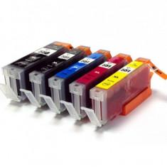 Set 5 cartuse Canon PGI-550BK XL, CLI-551BK XL, CLI-551C XL, CLI-551M XL, CLI-551Y XL compatibile - Cartus imprimanta