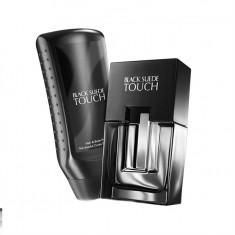Apa de toaleta Black Suede Touch 75ml + gel de dus AVON - Set parfum