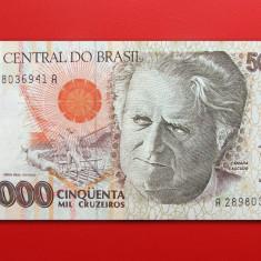 BRAZILIA - 50.000 Cruzeiros ND ( 1992 ) - aUNC - bancnota america