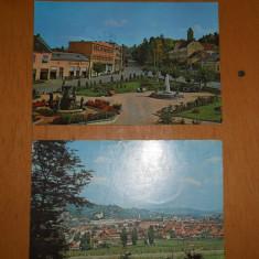 C.P : SIMLEUL SILVANIEI / CEHUL SILVANIEI - LOT 2 CARTI POSTALE, Ambele, Printata, Romania de la 1950