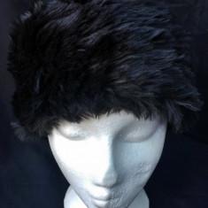 Caciula cazac Firetrap blana sintetica L24-25cm/H13-14cm-produs original-IN STOC - Caciula Dama, Culoare: Negru, Marime: Marime universala