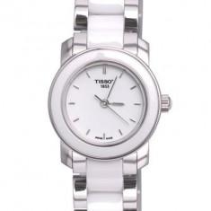 Ceas de dama Tissot Cera  alb, Elegant, Quartz, Inox