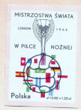 1966 POLONIA Colita Campionat Mondial Fotbal Londra neuzata ** MNH
